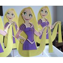 Adorno Pinche Torta - Rapunzel - Goma Eva 22 Cm X 17 Cm