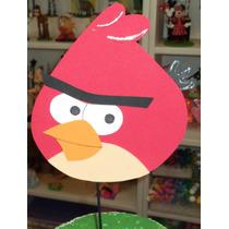 Adorno Pinche Torta - Angry Birds - Goma Eva 24 Cm X 20 Cm
