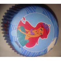 Pirotines Cupcake Importado Wilton La Sirenita Candy Bar