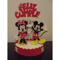 Adorno De Torta Minnie Y Mickey En Goma Eva
