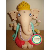 Ganesha Adorno De Torta - Ganesha En Porcelana Fria