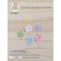 Flores En Papel Comestible Mi 4053