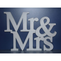 Cartel Mrs & Mr Fibrofacil 12mm O Polyfan De 3cm Espesor