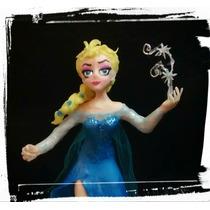 Elsa Frozen: Adorno Torta/muñeca En Porcelana Fría.