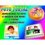 3 Láminas 100 % Comestibles Fototortas Todos Los Motivos!!!