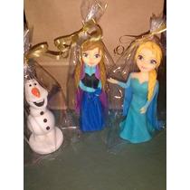 Adorno Frozen: Elsa O Anna En Porcelana Fria 20cm