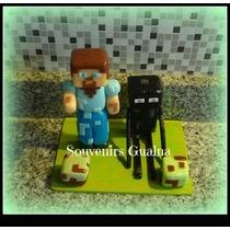 Adorno Minecraft En Porcelana Fría