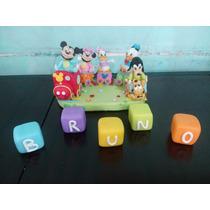 Adorno De Porcelana Fria Tren De Mickey , Varios Personajes