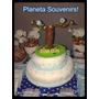 Adorno De Torta Pajaritos! Porcelana Bautismo Y Cumpleaños