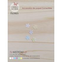 Flores En Papel Comestible Mi 4048