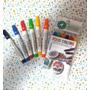 Set 6 Fibras Tinta Comestible Colores Surtidos Marcadores