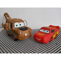 Cars De Disney (mcqueen Y Mate) Porcelana Fria.