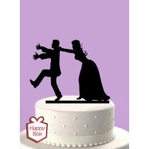 Adorno Para Torta Casamiento Divertidos Cake Topper Boda