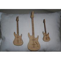 Figuras De Fibrofacil A Laser Guitarra 7 Cm