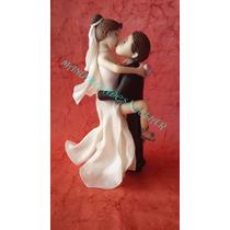 Adorno Para Torta Casamiento En Porcelana Fria