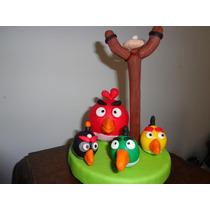 Angry Bird Adorno Para Torta En Porcelana Fría