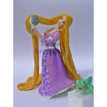 Rapunzel Peinandose Y Camaleon, Enredados, Disney Princesa