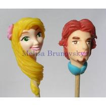 Brochettes Rapunzel Y Flynn Enredados 15u, Disney Princesas