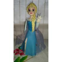 Adorno Para Torta Elsa De Frozen En Porcelana Fria.