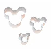Set De Cortantes Mickey 3 Unidades Decoracion Tortas Cupcake