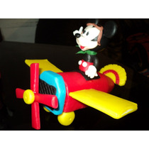 Mickey En Avion En Porcelana Fria!
