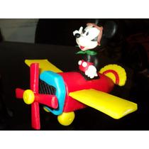 Mickey En Avion En Porcelana Fria!
