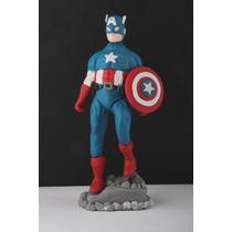 Capitan America, En Porcelana Fría, Adorno De Torta