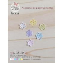 Flores En Papel Comestible Mi 4042