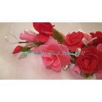 Ramo De Flores Para Torta En Porcelana Fria
