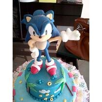 Sonic Con Base, 20cms. En Porcelana Fría