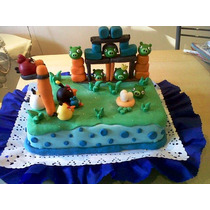 Adorno De Angry Birds Para Tu Torta . Tal Cual La Foto(todo)