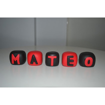 Adorno, Souvenirs Cubos Con Nombre Porcelana Fria-solciarte