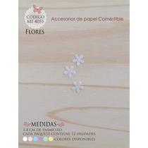 Flores En Papel Comestible Mi 4051