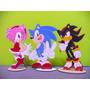 Sonic, Amy Y Shadow Adornos De Torta Centro De Mesa