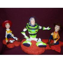 Toy Story,buzz Woody Jessie,en Porcelana Fria
