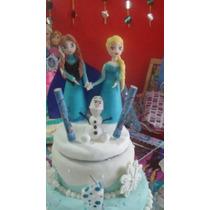 Adorno Para Torta Frozen Porcelana Fría