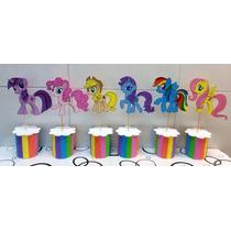 Mi Pequeño Pony Centros De Mesa En Goma Eva