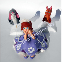 Princesa Sofia 15 Cm + Ardilla Y Conejo, Disney