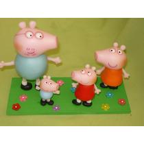 Centro De Torta Peppa Pig Y Familia Porcelana Fría