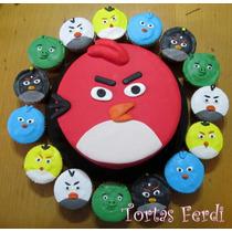 Angry Birds Torta Decorada