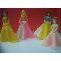 Adornos Para Torta Son 8 Princesas Porcelana Fría