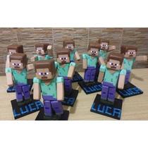Minecraft Adorno Para Torta,en Porcelana Fria