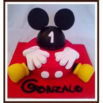 Torta Mickey Mouse Con Adorno Incluido!! 2 Kg Minimo