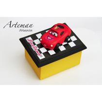 Souvenirs Cajitas Pintadas X 10 Rayo Mc Queen, Cars