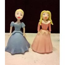 Adorno Para Torta En Porcelana Fría Princesas Disney