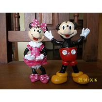 Adorno Para Torta Minnie Y Mickey En Porcelana Fria