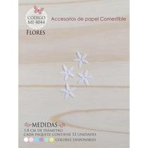 Flores En Papel Comestible Mi 4044