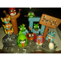 Adorno De Torta Angry Birds Space Y Star Wars