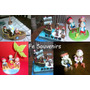 Cupcake-torta-golosinas-candy Bar-imanes Jake Y Los Piratas