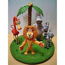 Adorno Para Torta Porcelana Fria Madagascar!!!